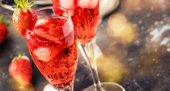 Drinkar Strawberry Daiquiri Tranbär Bubbel