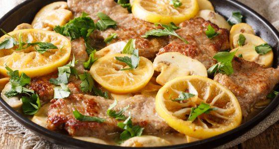 Huvudratt Scaloppine Limone Kalvfile Citron